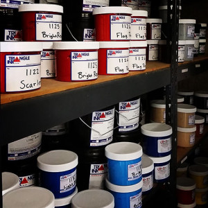 All Aspect Printing carries plastisol ink in a wide variety of colors