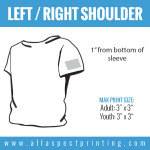 All Aspect Printing - Left / Right Shoulder